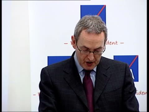 increase in retirement age 'inevitable'; england: london: int john hutton mp press conference sot - as unpopular as it may be to talk about working... - 30 seconds or greater stock-videos und b-roll-filmmaterial