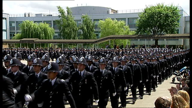 pensions of police officers could be cut to punish misconduct r29061205 / tx new police officers parading for passing out ceremony - pension stock videos & royalty-free footage