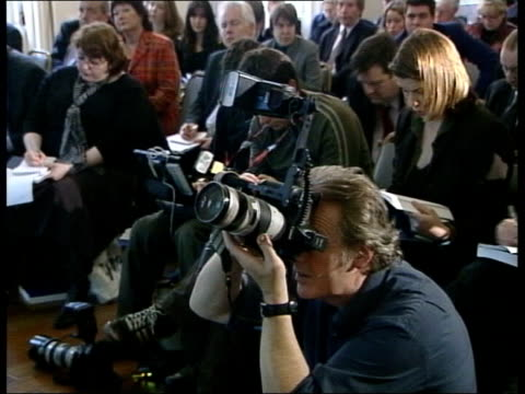lord turner chatting at launch of his report cms copy of report held by turner tilt up gv photographers and press cms turner speaking lord turner... - godmother stock videos & royalty-free footage