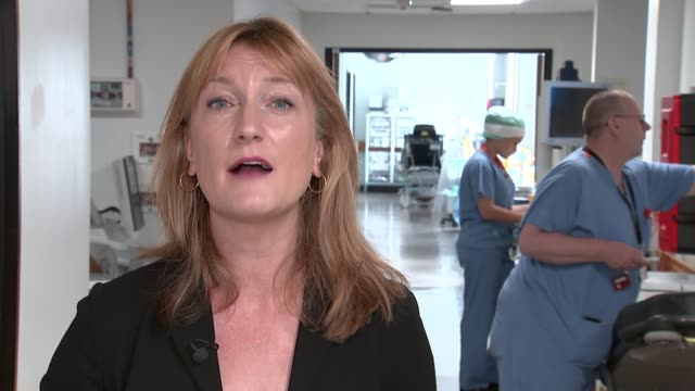 nhs pensions system to change amid rising waiting lists england london croydon int reporter to camera sot various shots of doctors/nurses along... - waiting stock videos & royalty-free footage