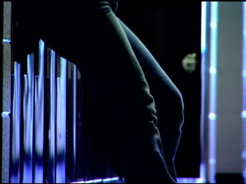 pensive girl in school hallway - one teenage girl only stock videos & royalty-free footage