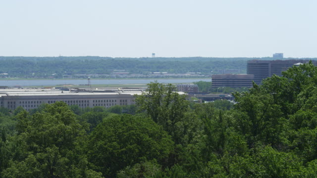 pentagon building from arlington national cemetery. shot in 2012. - the pentagon stock videos & royalty-free footage
