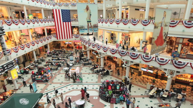 ha t/l pentagon city mall - shopping mall stock videos & royalty-free footage