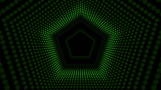 米国防総省主導トンネル - 発光色点の映像素材/bロール