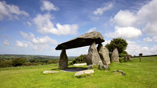 """pentre ifan neolithic tomb, timelapse"" - wales stock videos & royalty-free footage"