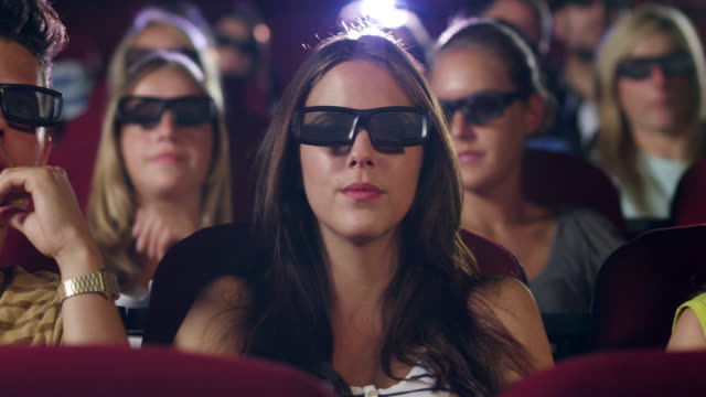 People 3D watching movie