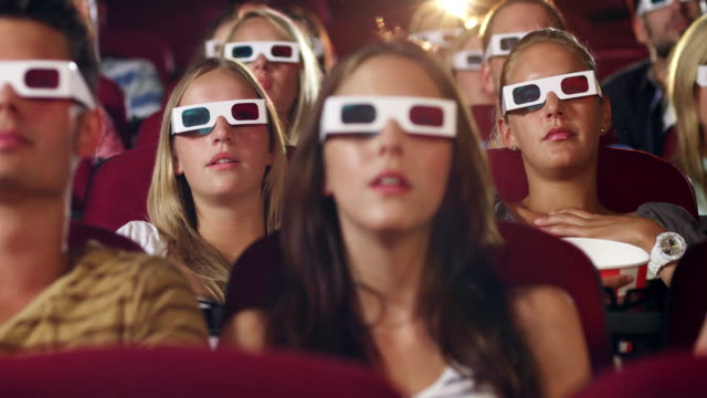 people 3d watching movie - relief emotion stock videos and b-roll footage