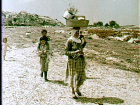 ws ms people and children, beruit, lebanon / audio - 1960 stock-videos und b-roll-filmmaterial