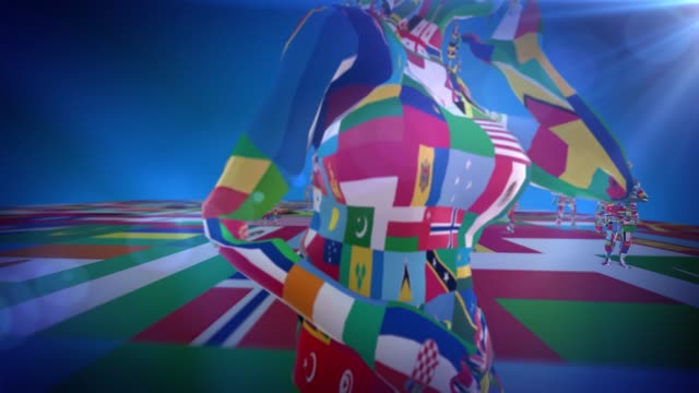 people and country flags - president stock videos & royalty-free footage