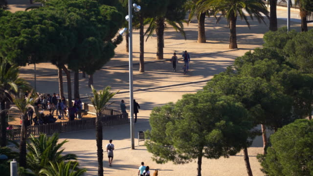 People and dogs at Barcelona Park