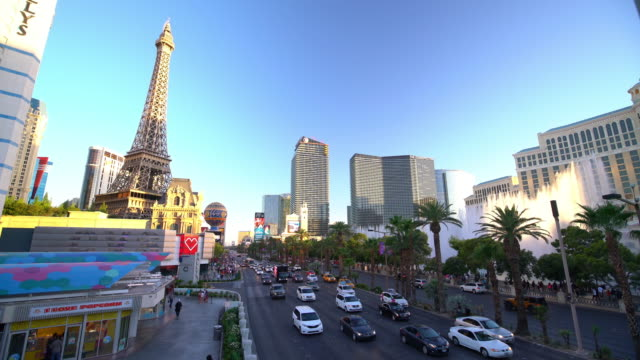 people and traffic at las vegas strip - las vegas stock videos & royalty-free footage