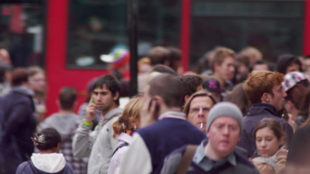 london - october 8: people and traffic on oxford street on october 8, 2011 in london. - oxford street london stock videos and b-roll footage