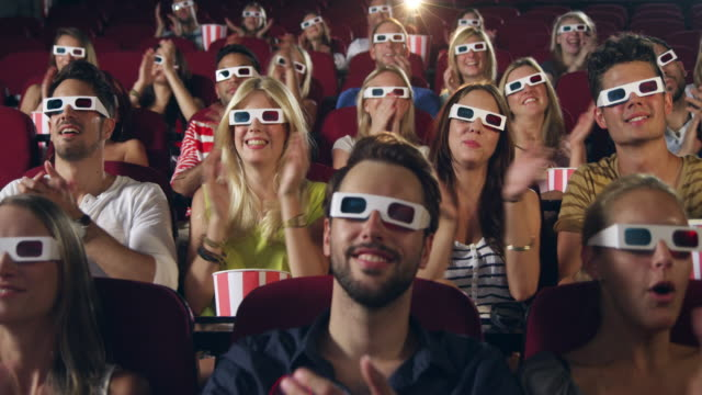 people applauding in cinema - clapping hands stock videos and b-roll footage