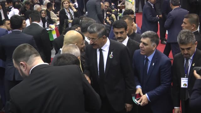people are seen during a commemoration ceremony that organized due to 29th anniversary of halabja massacre and its victims in iraqi kurdish regional... - anniversary stock videos & royalty-free footage