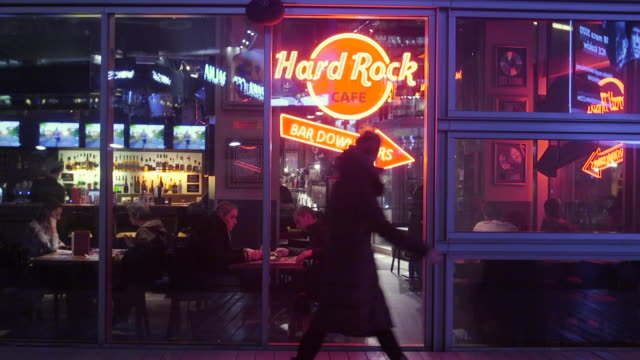 people are seen looking at menus at the hard rock cafe on january 15 2020 in warsaw poland - hard rock cafe stock videos & royalty-free footage