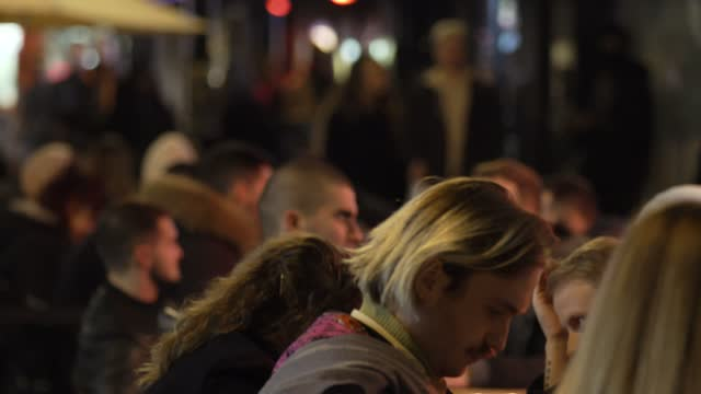 people are seen sitting at tables outside a restaurant in soho on november 4, 2020 in london, england. non-essential businesses, including pubs and... - furniture stock videos & royalty-free footage