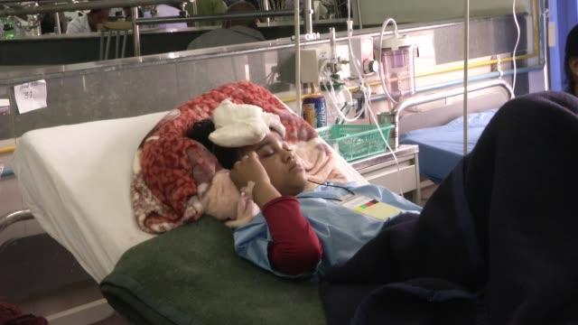 people are treated at bir hospital in kathmandu. a major 7 9 earthquake hit kathmandu mid-day on saturday, april 25th, and was followed by multiple... - kathmandu stock videos & royalty-free footage