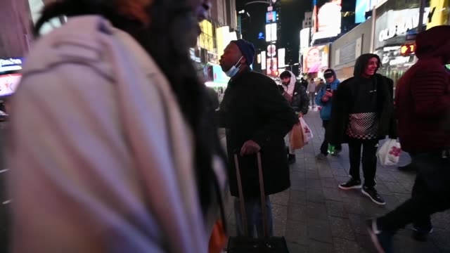 people argue as they await election results on election day 2020 in times square on november 03, 2020 in new york city. after a record-breaking early... - joe 03 stock videos & royalty-free footage