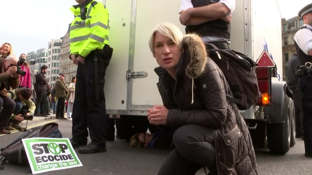 148 people arrested as extinction rebellion protesters set up camp in westminster uk london extinction rebellion protest blockades in westminster and... - lambeth stock videos & royalty-free footage