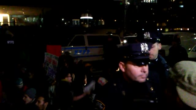 people arrested at solidarity protest in new york city. the protest and rally was in support of standing rock and nodapl - 2016 stock videos & royalty-free footage