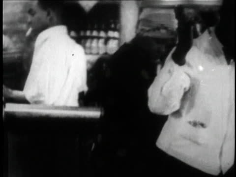 1929 montage people at a club dancing to a band in the short film st. louis blues / new york city, new york, united states - 1920 1929 video stock e b–roll
