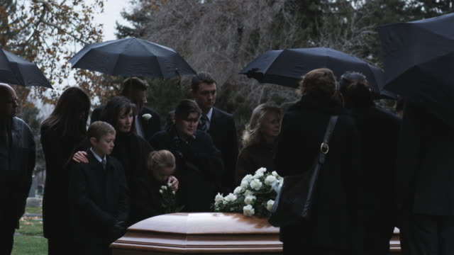 people at a funeral - mourning stock videos & royalty-free footage