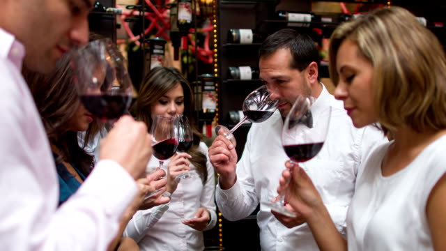 People at a winetasting