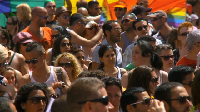 MS People at  annual gay Pprade  / Tel Aviv, Israel