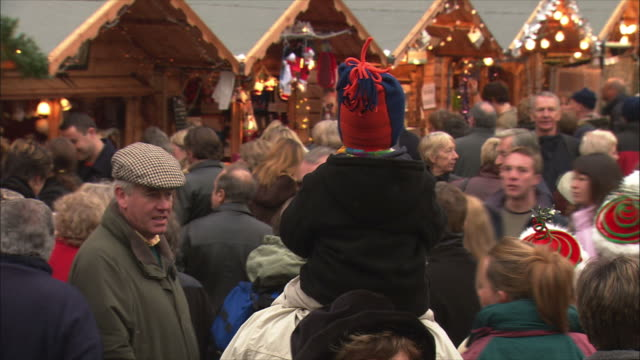 ms pan people at christmas market / bath, somerset, united kingdom - somerset england stock videos & royalty-free footage