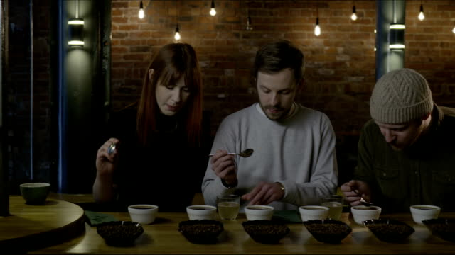People at coffee tasting