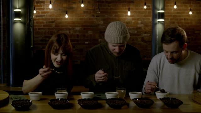 People at coffee tasting
