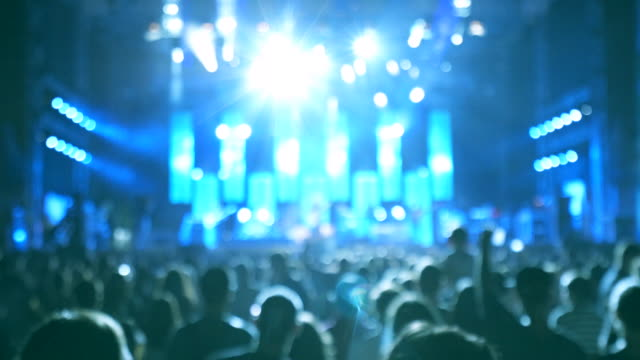 Mensen die concert partij