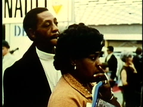 vidéos et rushes de montage, people at detroit auto show, 1960's, detroit, michigan, usa - 1960 1969