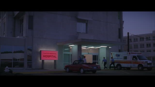 ms, people at entrance of canton memorial hospital at dawn, canton, south dakota, usa - leaving hospital stock videos & royalty-free footage