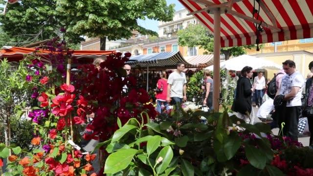 People at Flower Market in Nice