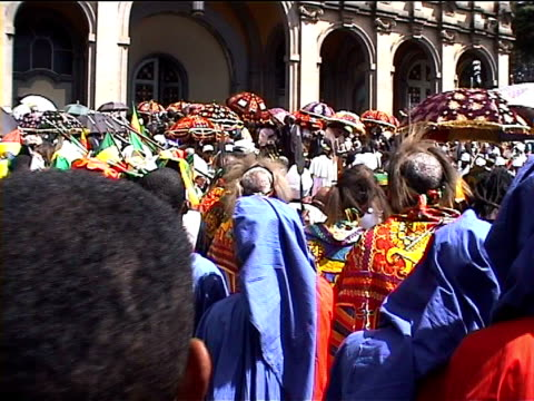 People at funeral 2000 Haile Selasse. ethiopia
