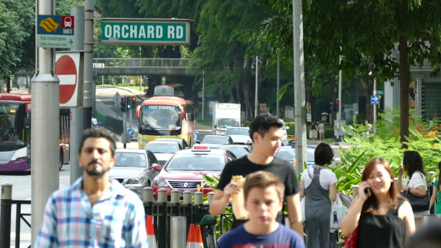 people at orchard road in singapore