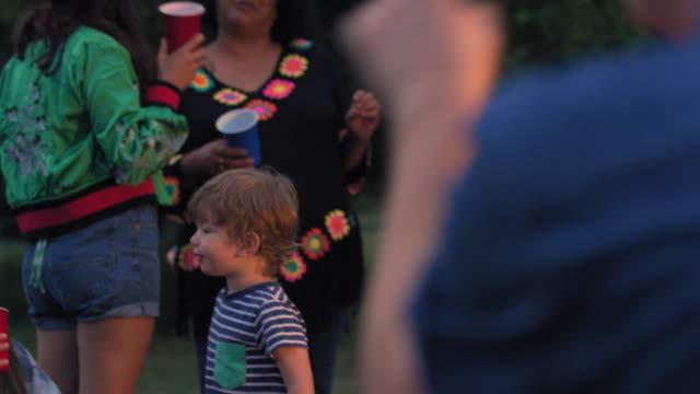 people at party - ウィルトシャー州点の映像素材/bロール
