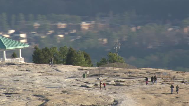 MS AERIAL People at Stone Mountain / Georgia, United States