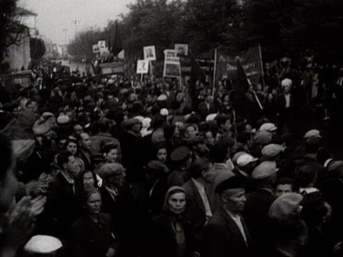 ws people at street for marching audio / lithuania - lithuania stock videos & royalty-free footage