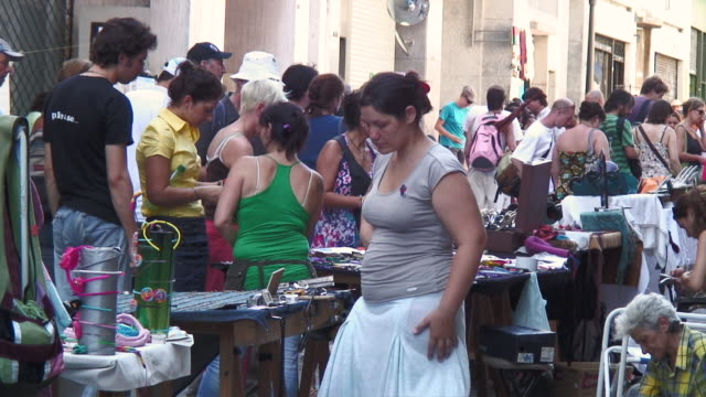 MS People at street market / Buenos Aires, Argentina