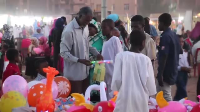 people attend a celebration held for the 1445th birth anniversary of prophet muhammad during the mawlid alnabi in khartoum sudan on december 11 2016 - muhammad prophet stock videos & royalty-free footage
