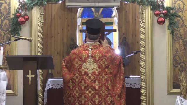 people attend a christmas eve mass led by pastor dimitri yildirim at the iskenderun orthodox church in hatay southern turkey on december 24 2019 - pastor stock videos & royalty-free footage