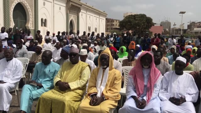 people attend a commemoration ceremony for victims of christchurch terror attacks at the grand mosque of dakar on march 22 2019 in dakar senegal last... - grand mosque stock videos and b-roll footage