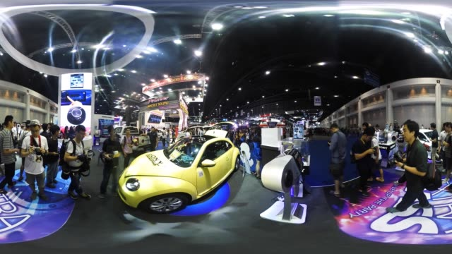 People attend the 38th Bangkok International Auto Show at the Impact Center in Nonthaburi Thailand