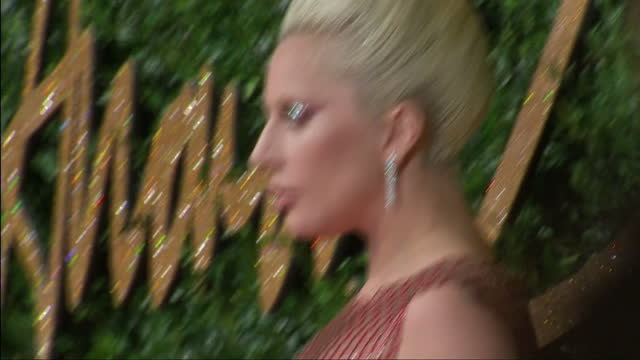 people attend the british fashion awards 2015 at the coliseum shows exterior shots lady gaga fashion shot on the red carpet on november 23 2015 in... - lady gaga stock videos & royalty-free footage