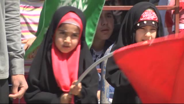 people attend the celebrations organized by platform for lovers of the prophet to mark holy birth week birth week of the prophet muhammad in turkey's... - muhammad prophet stock videos & royalty-free footage