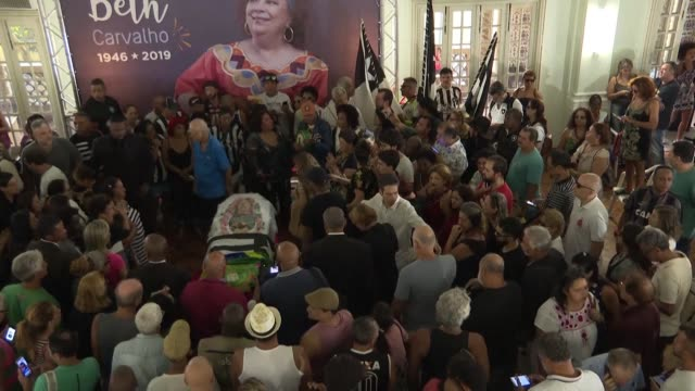 people attend the funeral of brazilian singer and godmother of samba beth carvalho who died at 72 from a sepsis in rio de janeiro - godmother stock videos & royalty-free footage