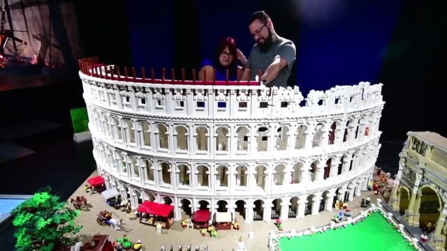 people attend the lego works exhibition the brickman experience in san jose costa rica showcasing 88 structures built with more than 5 million lego... - san jose costa rica stock videos & royalty-free footage
