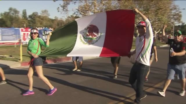KTLA People Attend The US and Mexico Soccer Game At The Rose Bowl on October 10 2015